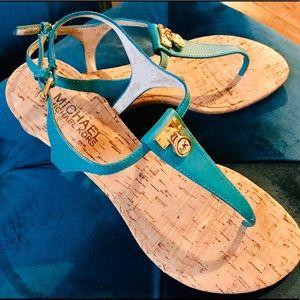 Micheal Kors T-Strap Wedge Sandal